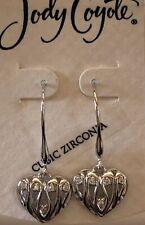 Jody Coyote Earrings JC022 Wilder Hearts WIL-0114-15 cubic zirconia cz heart