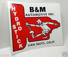 B&M HYDRO STICK Vintage Style DECAL / STICKER, rat rod, racing