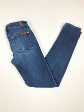 Seven 7 For All Mankind Blue Jeans Slim Cigarette 24 Skinny Stretch