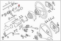 Genuine MERCEDES Ignition Lock Shield C107 C123 C126 R107 S123 W116 1164620023