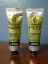 The Body Shop Hemp Hard-Working Hand Protector Cream Travel Lot 1 oz Each New