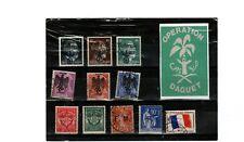timbres  franchise militaire ,marque nazi sur timbres français vignette daguet