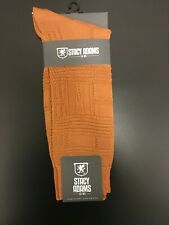Men's Dress Socks Stacy Adams Solid Plain COGNAC Color Size 6-12
