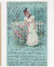 Hungary 1900 Chromo Litho Greetings Postcard 439a