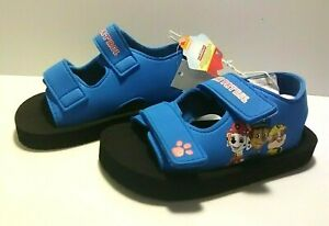 Paw Patrol Toddler Boy's Blue Sandals - 2 Adjustable Straps - Size: M (7/8)