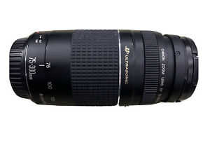 Canon EF 75-300mm F/4.0-5.6 III USM zoom lens plus front & rear cover