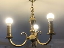 Solid Brass Ceiling Pendant Light and three Solid brass Wall Paired lights.