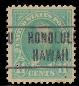 #563 United States used well centered precancel Honolulu
