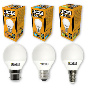 JCB 3w / 6w LED Golf Ball Bulbs B22 / E27 / E14 - Warm / Cool / Daylight White