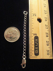 EXTENDERS - 925 silver bracelet/necklace extension 2 inches & lobster claw lock