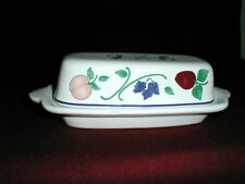 Princess House ORCHARD MEDLEY 1/4 lb Butter Dish EXC