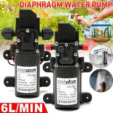 More details for 12v water pump high pressure diaphragm self priming 130psi 6l/min rv caravan 72w