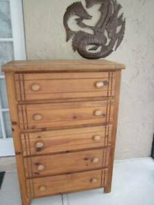 Wood Chest Five Drawers By Cayon Co Shipping not included