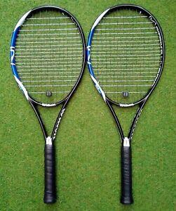 Pair of Wilson K Strike Hybrid Adult Tennis rackets.