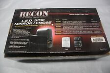 Recon 264140CL Clear Side Mirror Lenses clear smok LEDs for Ford F250 Super Duty