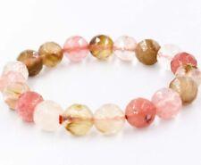"10mm Multicolor Watermelon Tourmaline faceted Round Beads Bracelet 7.5"" J71"