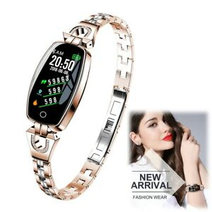 Woman Lady Fashion Bluetooth Bracelet Smart Watch Phone Mate Wristband Pedometer