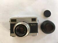 Zeiss Werra II Black 35mm w TESSAR 50mm f2.8 Lens w Cap Reversible lenshood