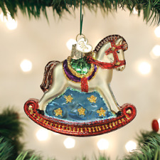 OLD WORLD CHRISTMAS ROCKING HORSE GLASS CHRISTMAS ORNAMENT 44133