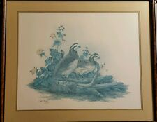 """Framed Ray Ford Art Print """"Bobwhite Quail"""" Limited Edition with Certificate"""
