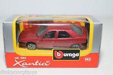 BBURAGO BURAGO 4165 CITROEN XANTIA METALLIC MAROON MINT BOXED