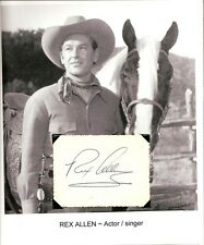 Rex Allen Autograph Don't Go Near The Indians Frontier Doctor Five Star Jubilee