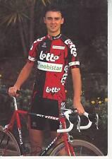 CYCLISME carte cycliste SEBASTIEN DEMARBAIX équipe LOTTO MOBISTAR 1997