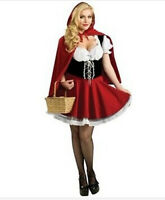 Sexy Women Fancy Dress Little Red Riding Hood Costume Lady Outfit Plus Size S-4X