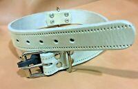 Collar de Perros en Cuero | Curtido Vegetal SIN Rozaduras | 3 cm x 60 cm