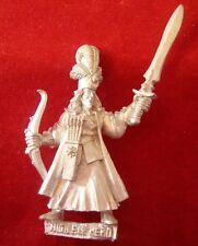 Warhammer WFB 1996 metal High Elf Command ARCHER CHAMPION/HERO