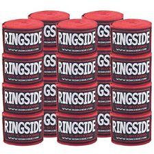 Ringside Boxing Handwraps 10 Pack Mma Kickboxing Muay Thai Hook & Loop Red