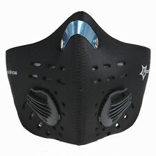 ROCKBROS Bike Cycling Anti-dust Half Face Mask with Filter Neoprene Black Size L