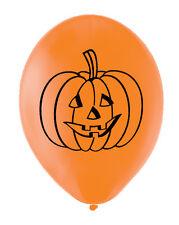 """6 Arancione Halloween Zucca LATTICE PALLONCINI 11"""" Qualità Elio Party Divertente"""