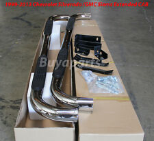 1999-2012 Chevrolet Silverado 1500 Extended Cab 3' CHROME S/S Side Step Nerf Bar