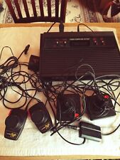 L👀K Vintage Atari 2600 Game Console 25 Games 4 Controllers Cords Instructions