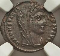 Divine Constantine I 307-337AD bronze/bilion nummus NGC certified MS 4/5 3/5