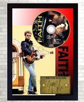 George Michael PHOTO & Faith CD Disc SIGNED Presentation Display Framed #2