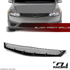 FOR 06-08 HONDA CIVIC COUPE BLK R-SPORT MESH TYPE FRONT BUMPER GRILL GRILLE ABS