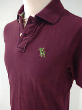 Polo bordeaux ABERCROMBIE & FITCH Small S Muscle 100% cotone Effetto VINTAGE