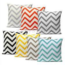 Vintage Stripe Cotton Cushion Cover Pillows Case Zig Zag Wave Home Decor 45x45cm