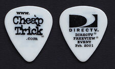 Cheap Trick Rick Nielsen DirecTv Preview Event White Guitar Pick - 1999 Tour
