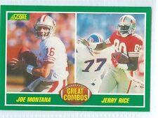 Montana & Rice 1989 Score '89 Vintage Football Card #279 NM San Francisco 49ers