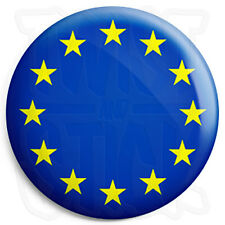 EU European Union Flag - 25mm Button Badge - UK Referendum - In Out Europe Vote