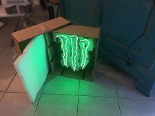 Rarissime Enseigne Néon MONSTER Energy !!! 40x50 cm / Neuf