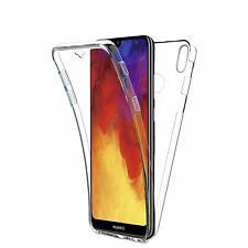 Pour Huawei Y6 2019 Coque Gel 360 avant+Arrière Protection INTÉGRAL