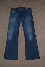 Genuine DIESEL ZATHAN 0073N WASH mens regular fit bootcut jeans 31W 32L VGC