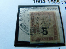 french colonies: INDOCHINE : TAXE 1 - 1904 - cote: 12€
