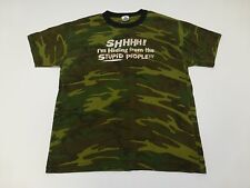 Mens Size Large Camo Im Hiding From Stupid People Faded Camo T Shirt