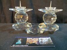 Swarovski Crystal Candle Holders # 108 E, Retired rare European pin style