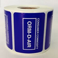 1 Roll Other Regulated Materials 2x1.5 Consumer Commodity Orm-D-Air 500 Labels